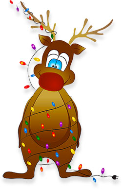 Rudolph clipart fat. Free reindeer graphics animations