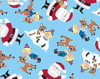 Rudolph clipart fat. Christmas etsy fabric fun
