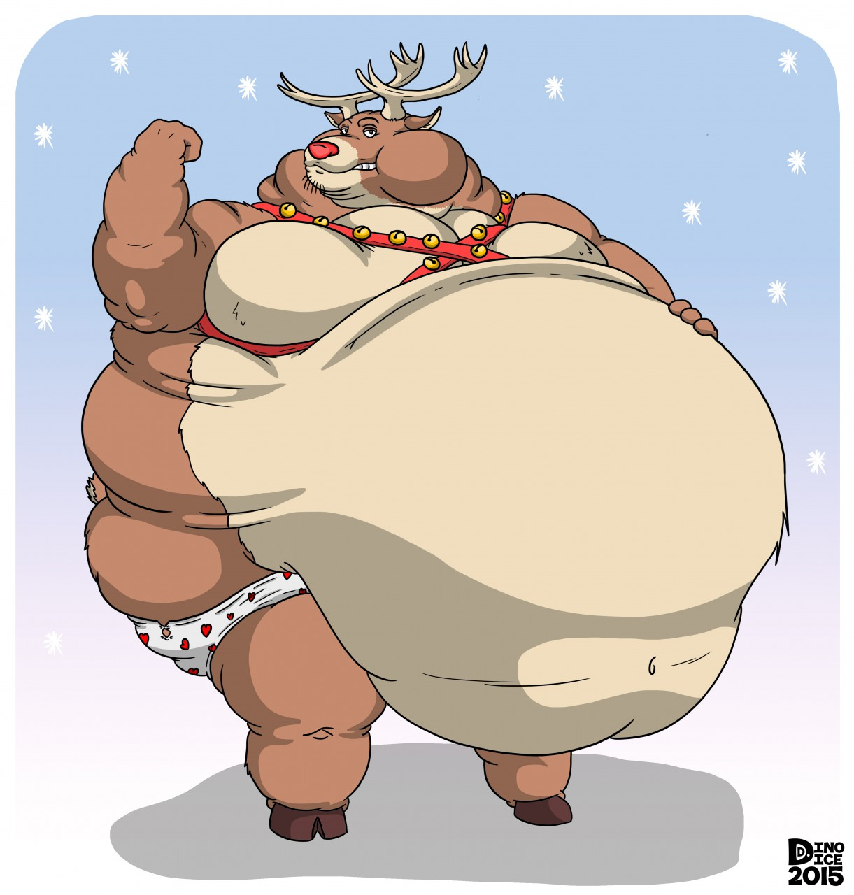 Rudolph clipart fat. The wide rumped reindeer