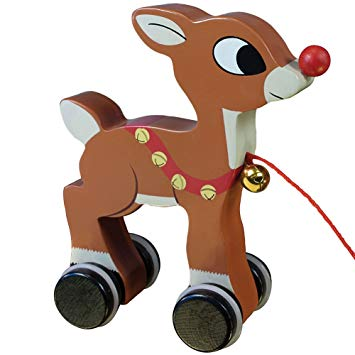 Rudolph clipart holiday. Amazon com wood pull