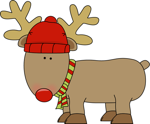 Happy holidays clipart reindeer. Brown free rudolph the