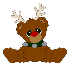 Rudolph clipart svg. The red nosed bear