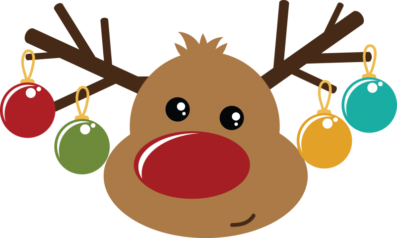 Rudolph clipart svg. The red nosed reindeer