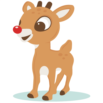 Rudolph clipart svg. Red nosed reindeer scrapbook