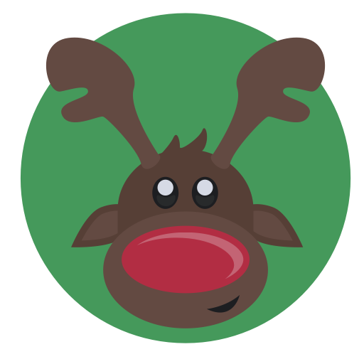 Rudolph the red nose reindeer with bell png. Media monster christmas by