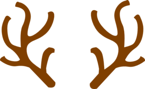 Rudolph vector antlers. Ears clip art at