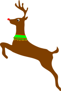 Rudolph vector cartoon. The red nosed reindeer