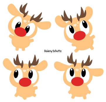 Rudolph vector kawaii. Chibi by daieny on