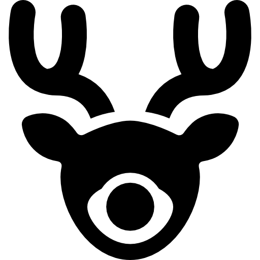 Rudolph vector christmas symbol. Reindeer icons png free