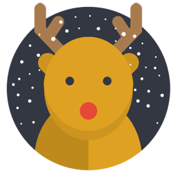 Rudolph vector christmas symbol. Icon free flat iconset
