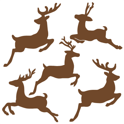 Rudolph vector flying. Reindeer set svg cutting