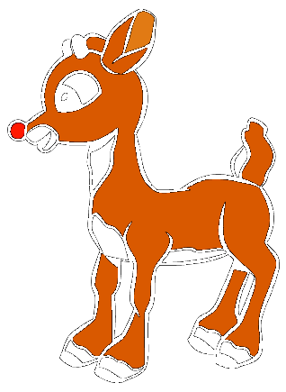 Rudolph vector the red nosed reindeer. Clipart