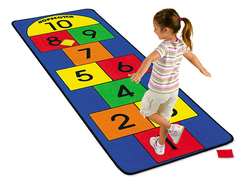 Rug clipart lakeshore. Hopscotch carpet at learning