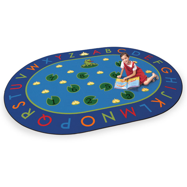 Rug clipart oblong. Early learning carpets letters