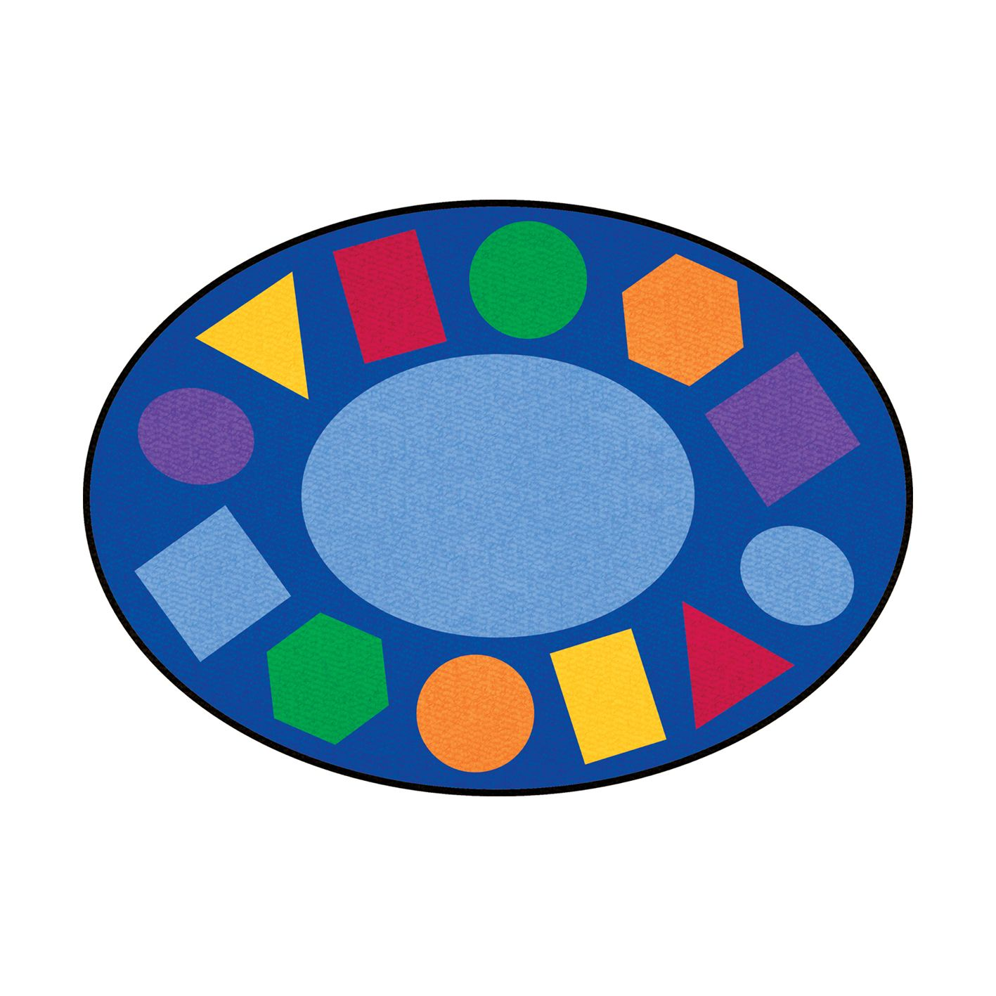 Rug clipart round mat. Geometric learning classroom carpets