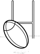 Goal drawing black. Rugby ball posts feilding