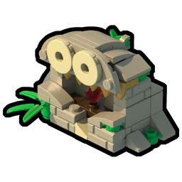 Temple ruin lego worlds. Ruins drawing jungle picture royalty free stock