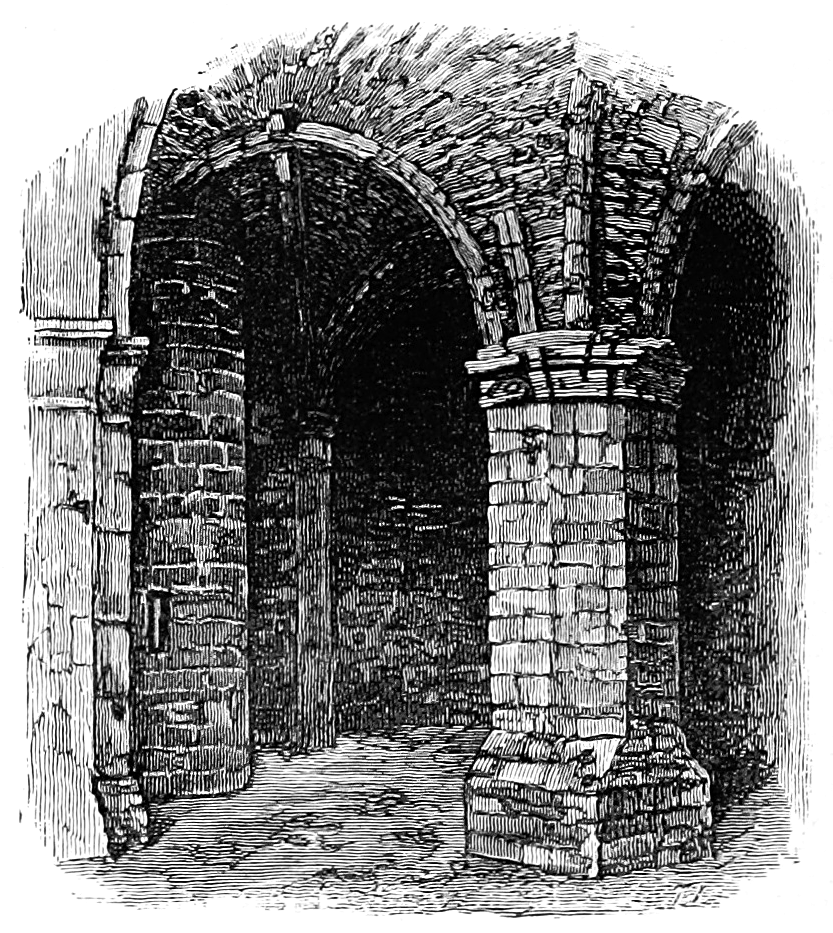 Ruins drawing medieval. Dungeons of olde the