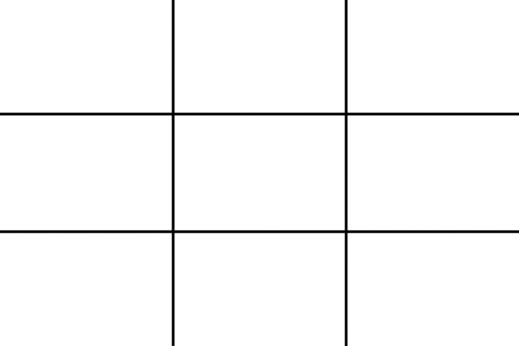 Rule of thirds grid png. Photography composition rules and