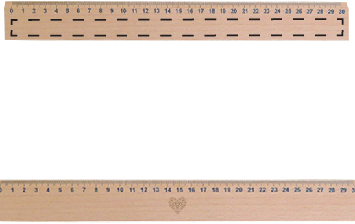 Ruler clipart engraved. Personalised wooden with laser