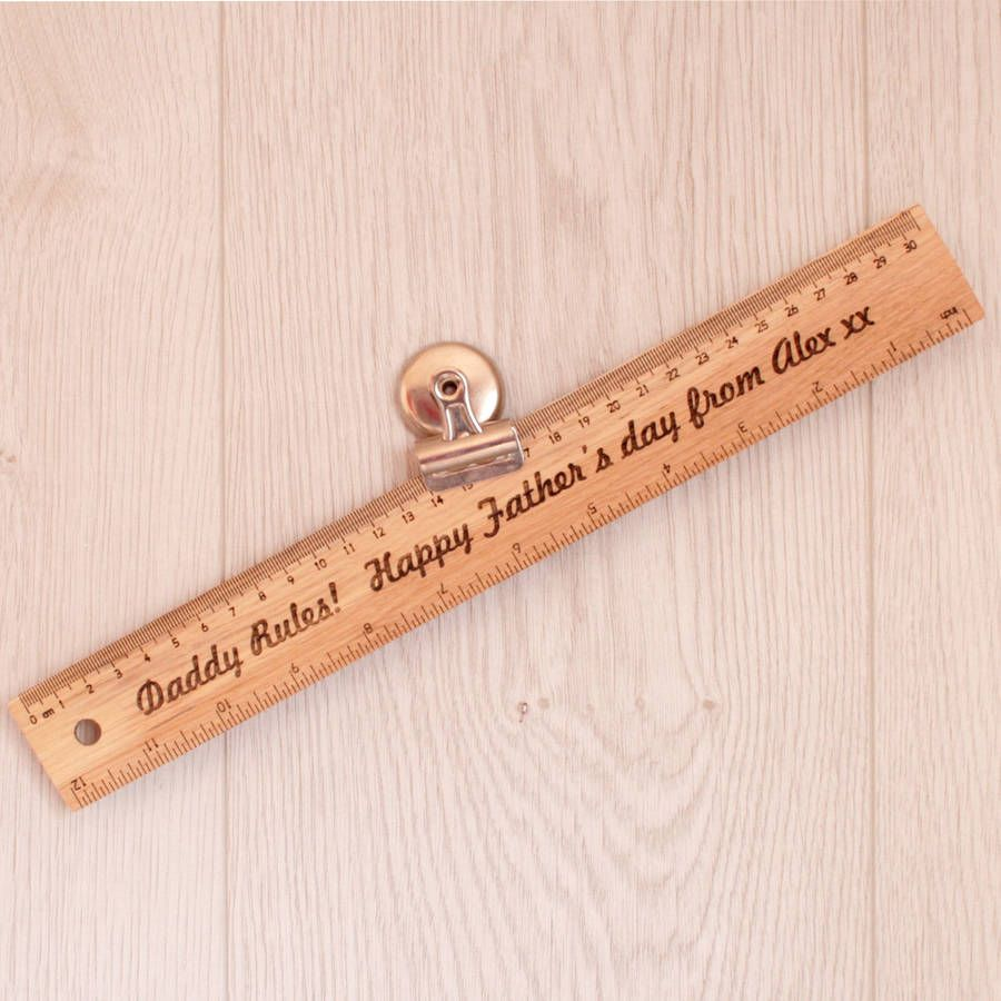 Ruler clipart engraved. Personalised father s gift