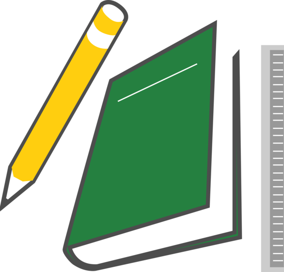 Ruler clipart horizontal. Free book and pencil