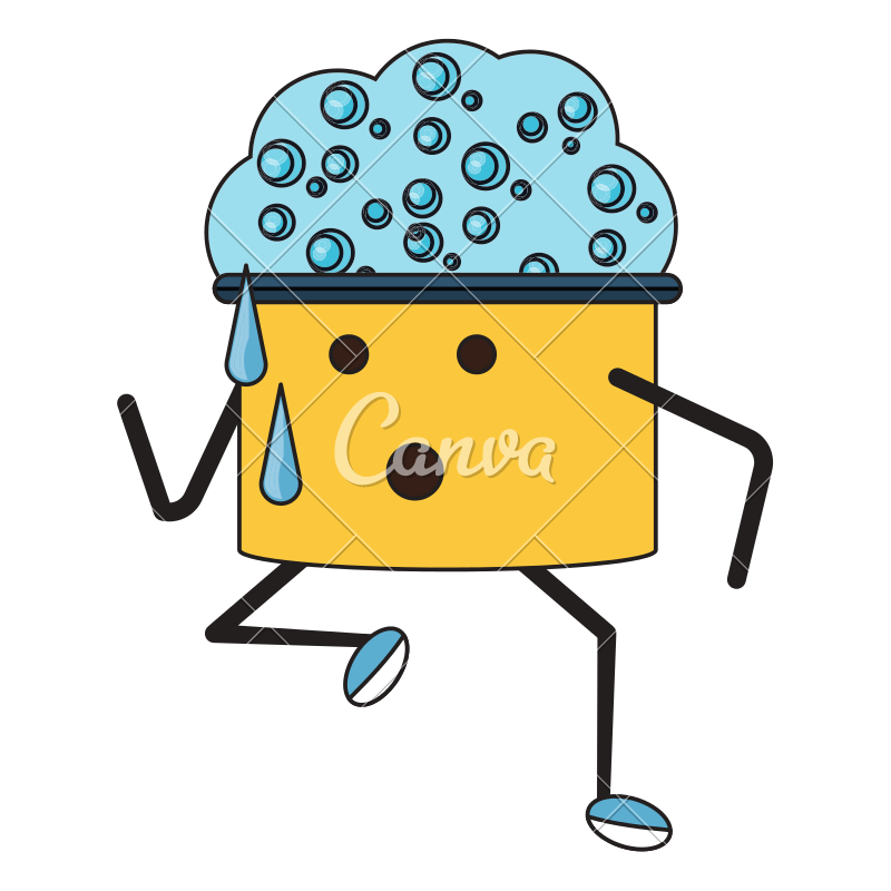 Ruler clipart kawaii. Cleaning utensils design icons