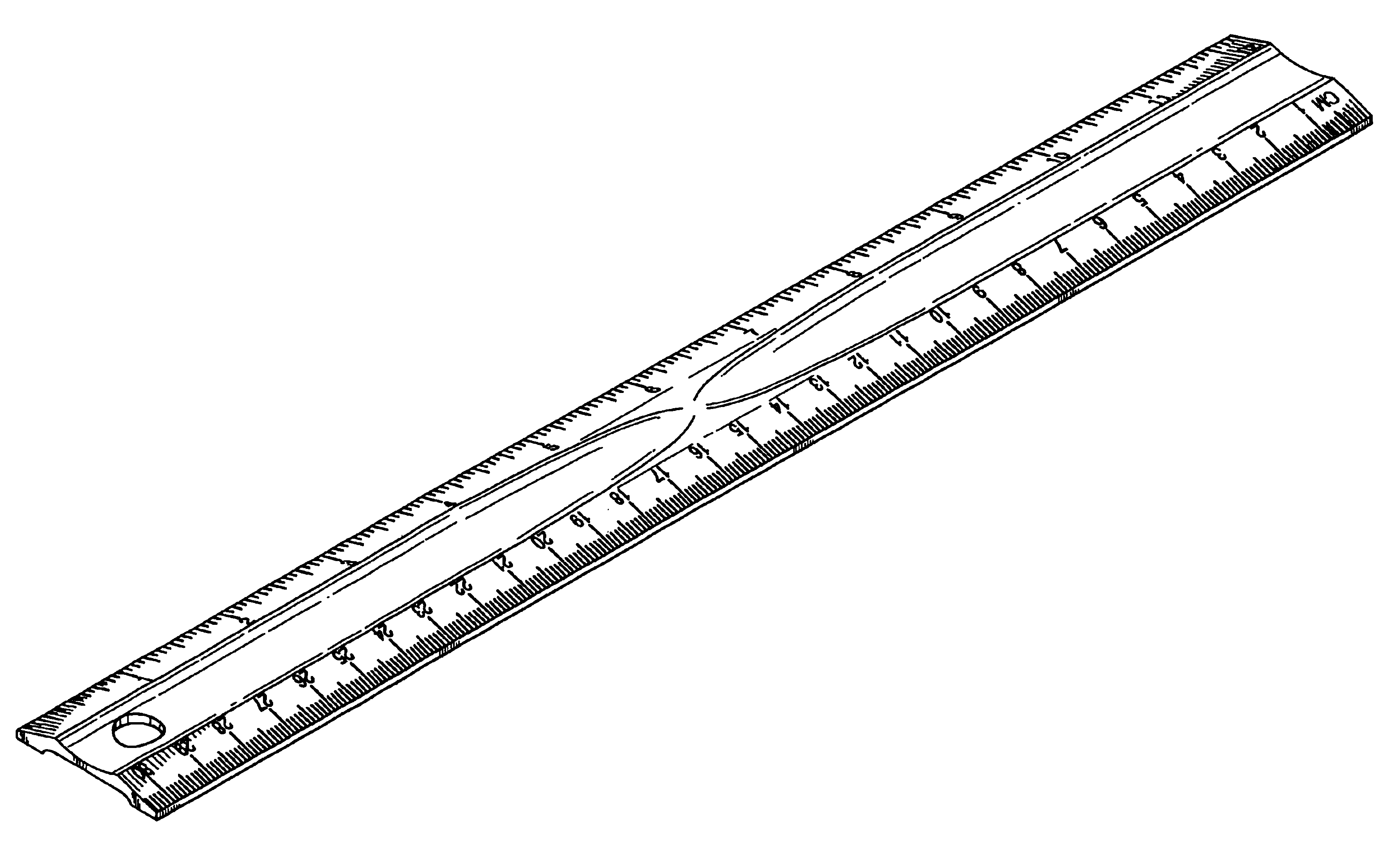 Ruler clipart long ruler. New black and white