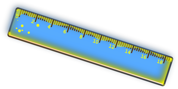 Ruler clipart long ruler. Blue and yellow clip