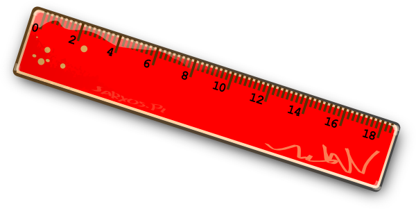 Ruler clipart red. Clip art at clker