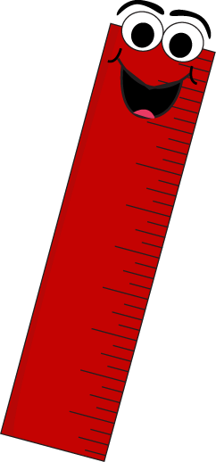 ruler clipart red