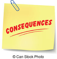Rules clipart consequence. Consequences stock illustration images
