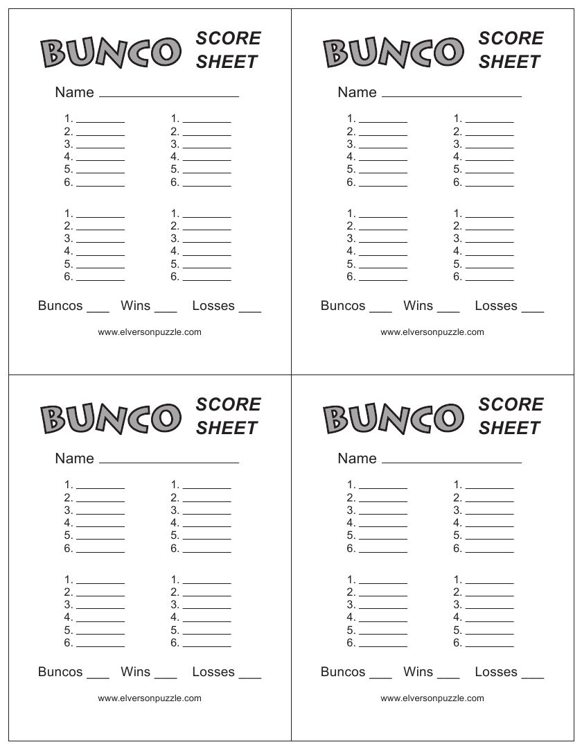 Rules clipart scorecard. This is the bunco