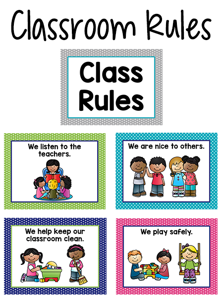 Rules clipart taught. Pre k classroom pinterest