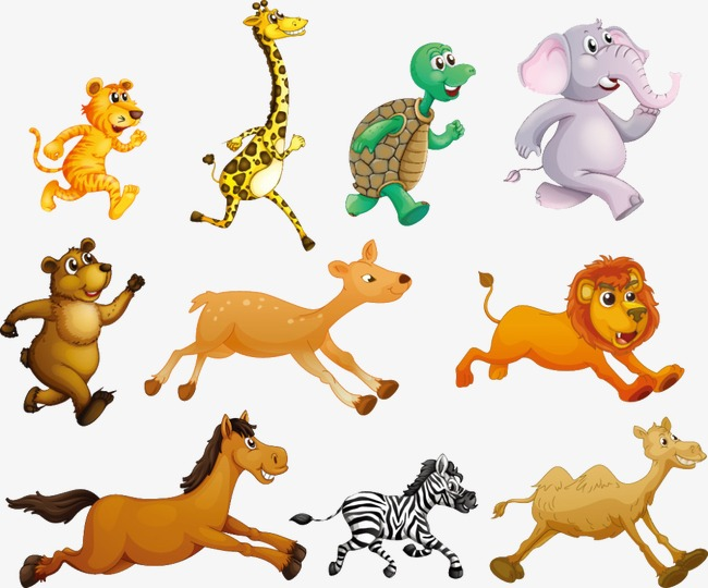 Run clipart cartoon. Running animals animal png