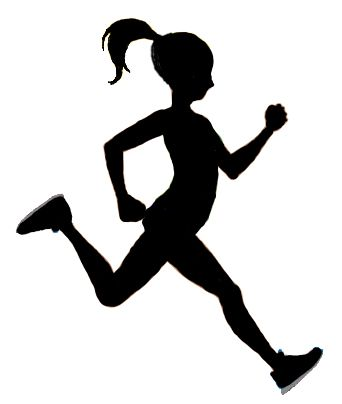 Run clipart girl. Running silhouette at getdrawings
