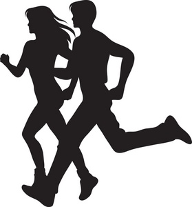 Run clipart jogging. Free image computer couple