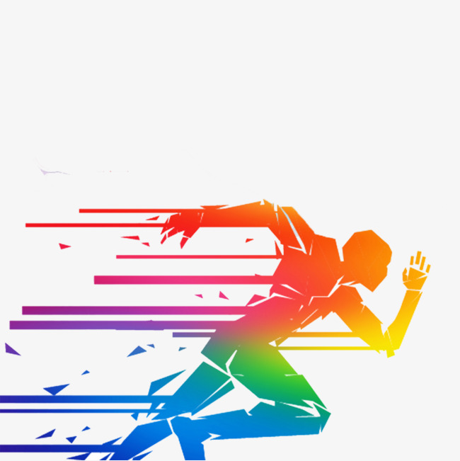 Run clipart running man. Colored people competition png