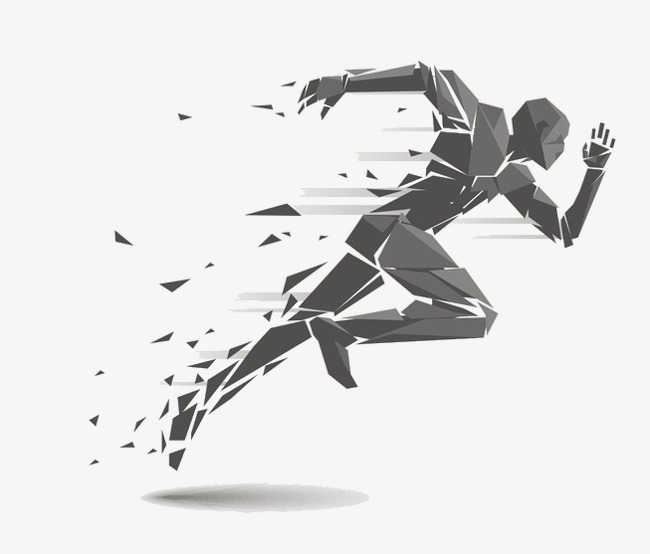 Run clipart running man. Abstract the png image