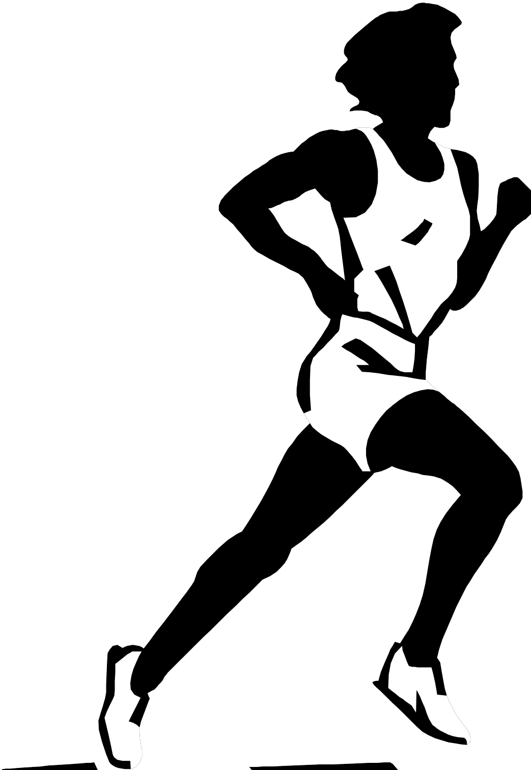athlete drawing female