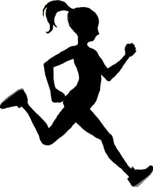 Runner clipart sprinter. Silhouette at getdrawings com