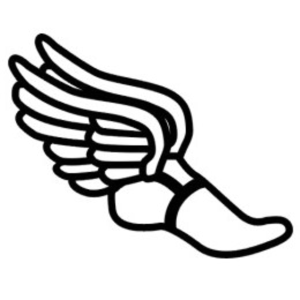 Runner clipart track shoe. With wings clip art