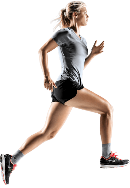 Human running png. Woman front transparent stickpng