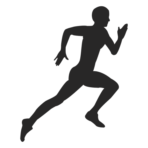 Running hard transparent png. Athlete vector png stock
