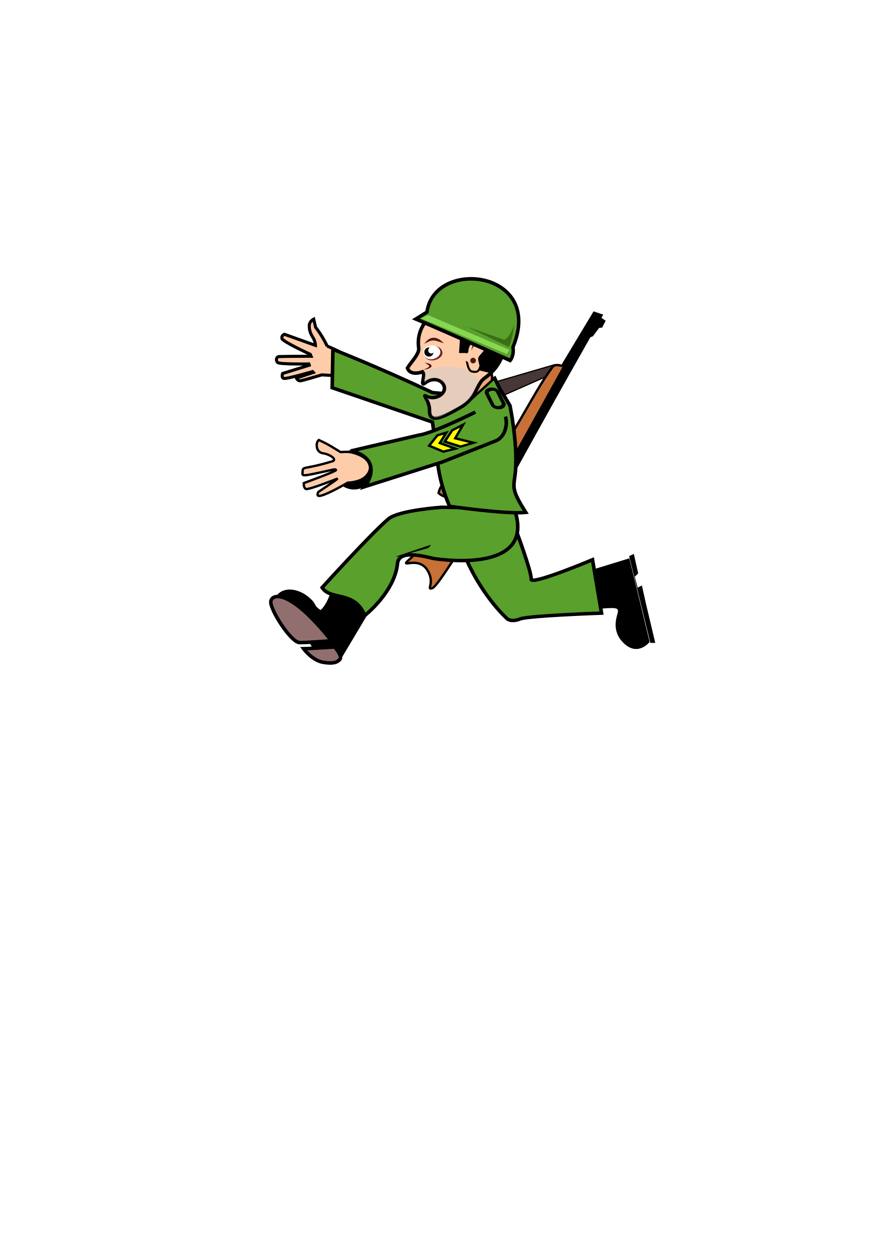 Running away png. Soldiergreen icons free and