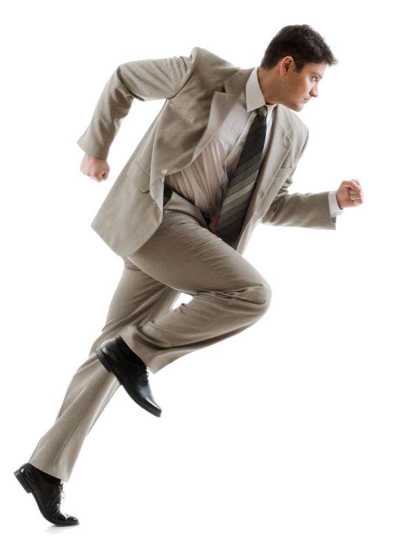 Running businessman png. Image