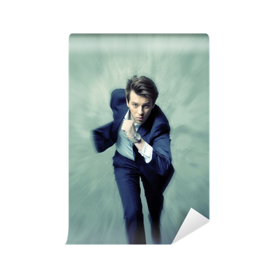 Running businessman png. Fine pohoto of the