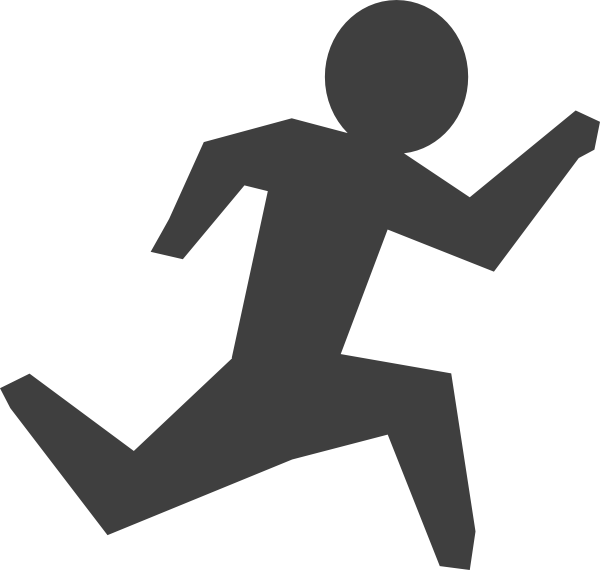 Banker clipart stingy person. Gray man running clip