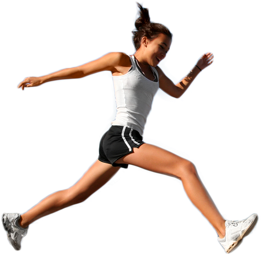 Running girl png. Download sports image with