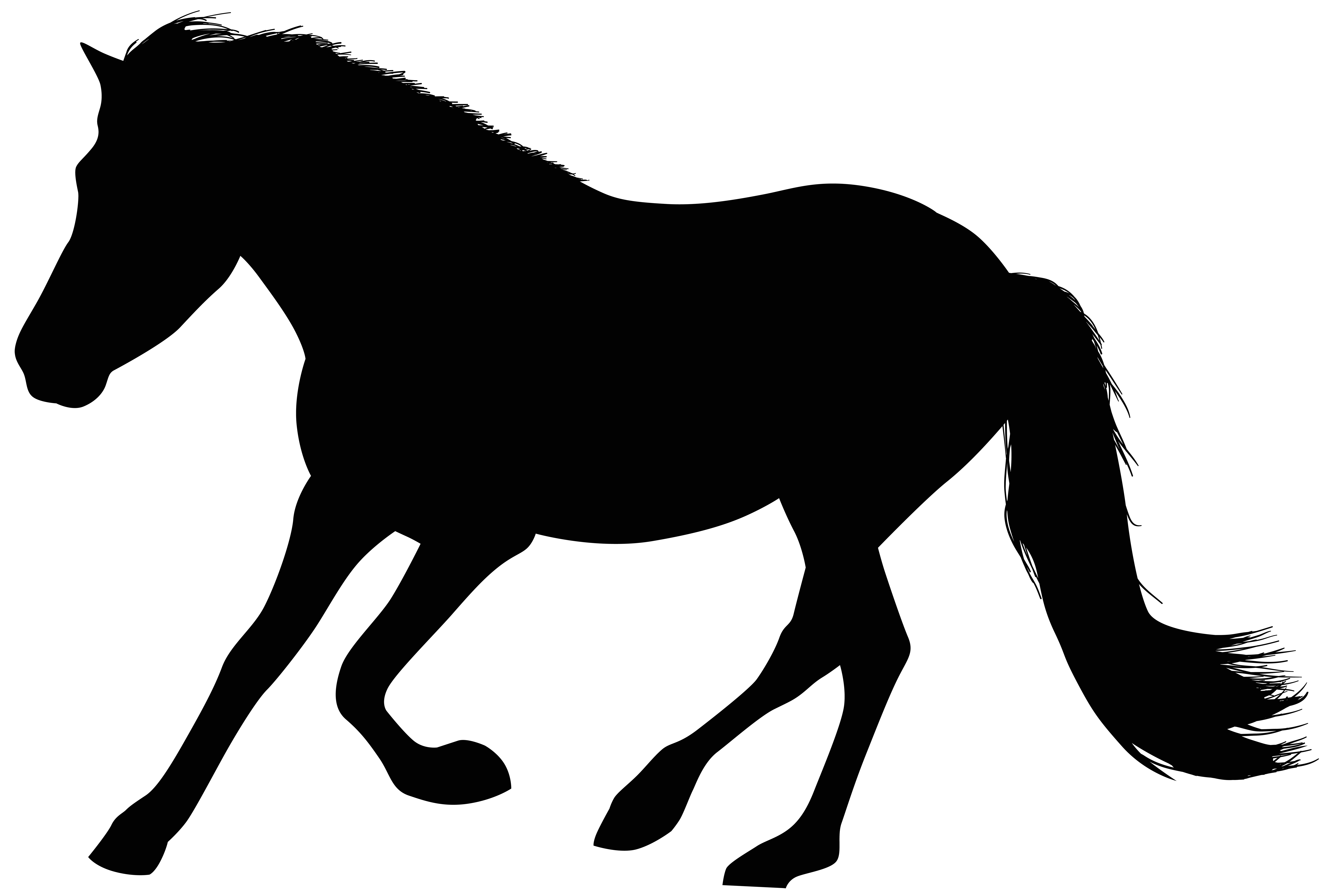 Running horse silhouette png. Clip art image gallery